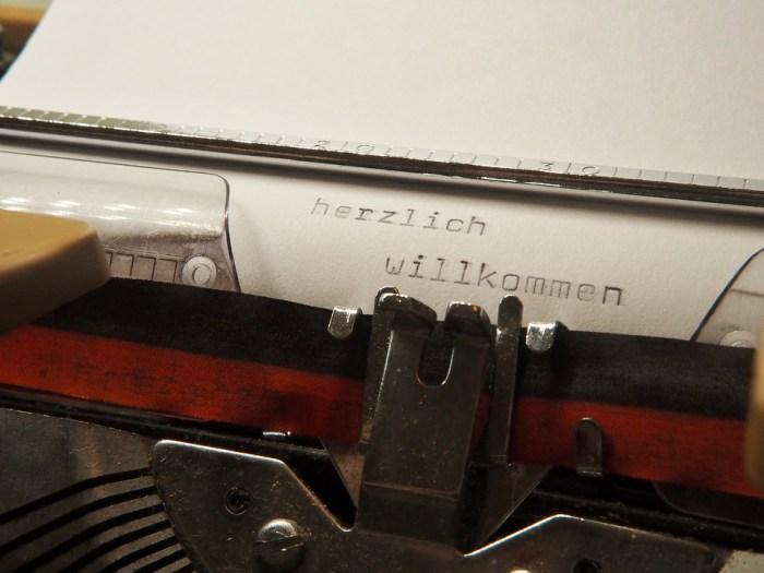 Texte sur machine à écrire