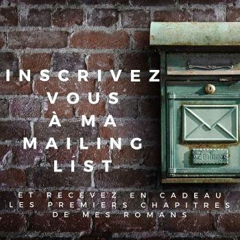 Inscription à la newsletter d'Amélie Haurhay - Autrice