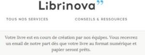 Librinova - Création troisième roman Amélie Haurhay
